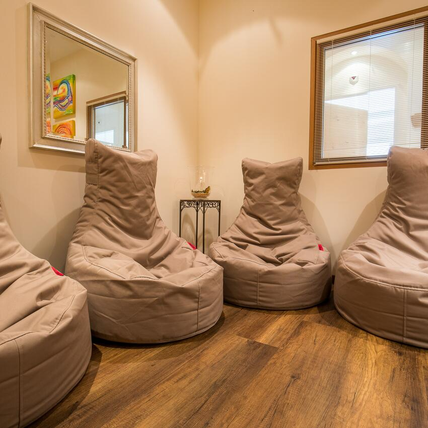beanbag chairs spa area