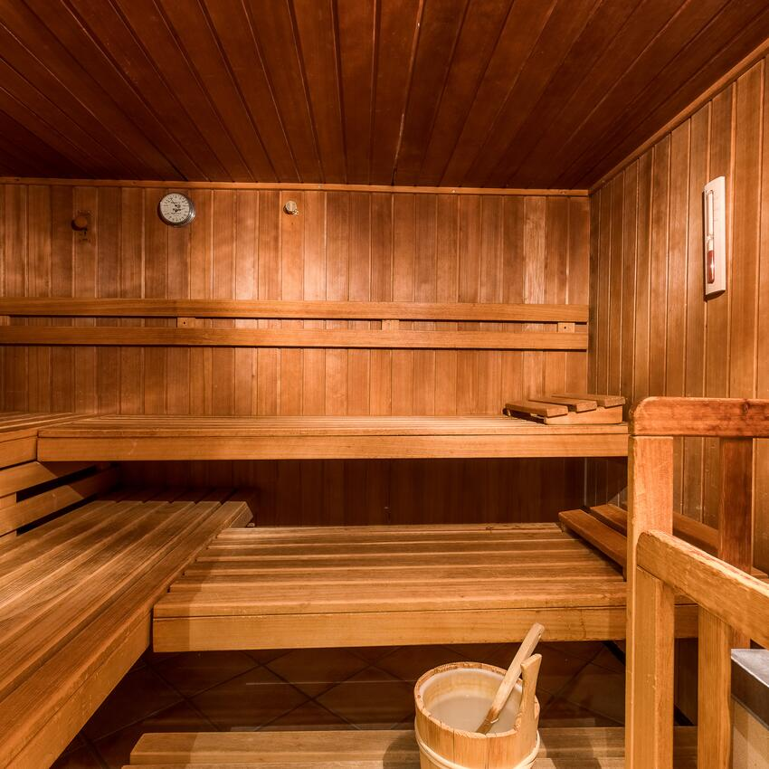 sauna in the spa area