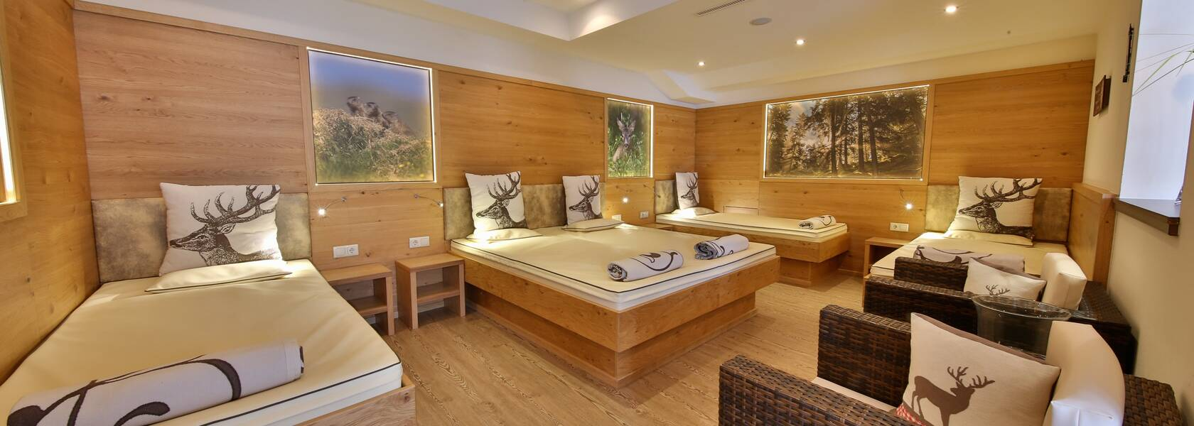 water bed relaxation area