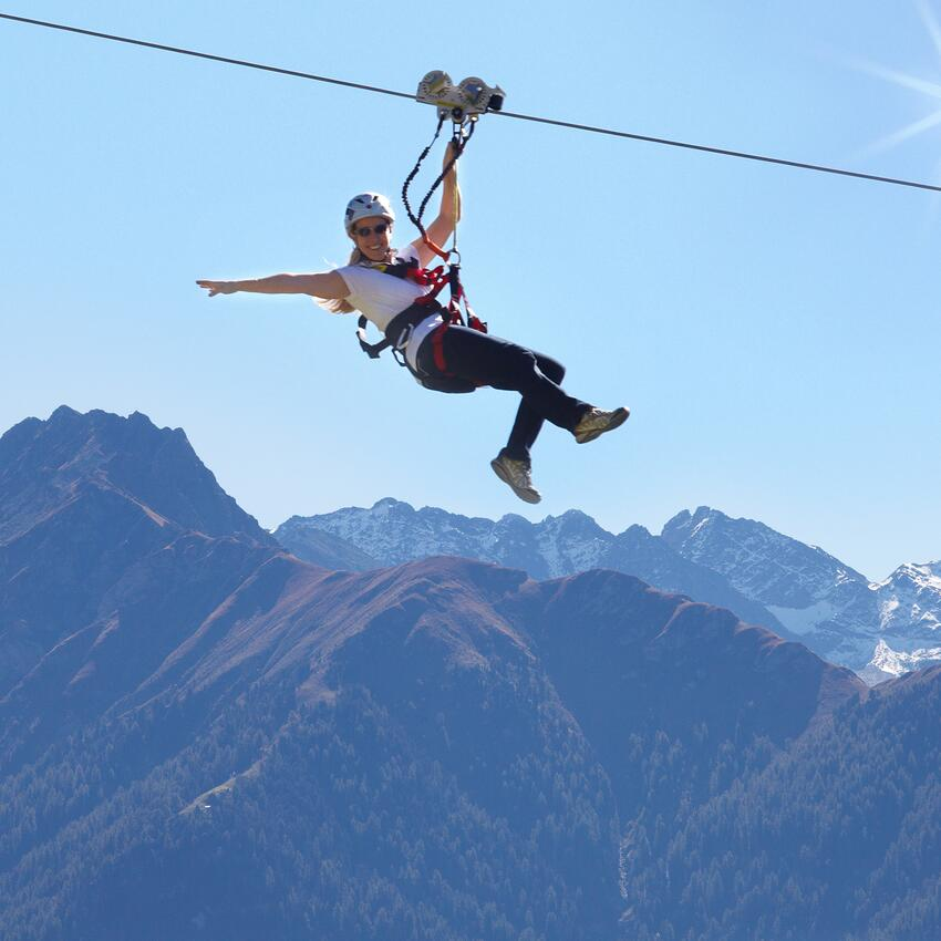 zip line in serfaus
