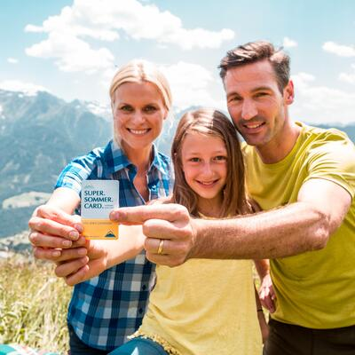 family holiday with the super summer card