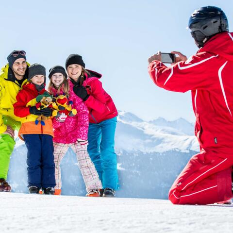 serfaus skiing instructor children course
