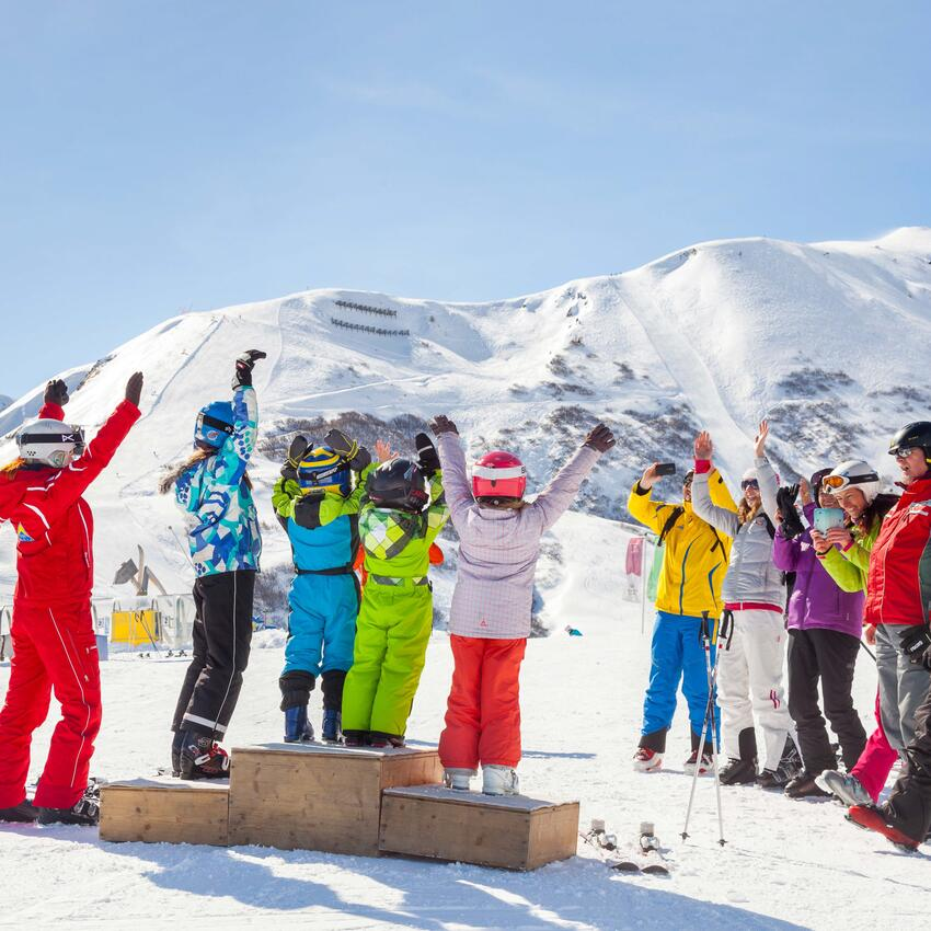 skiing course serfaus kids race