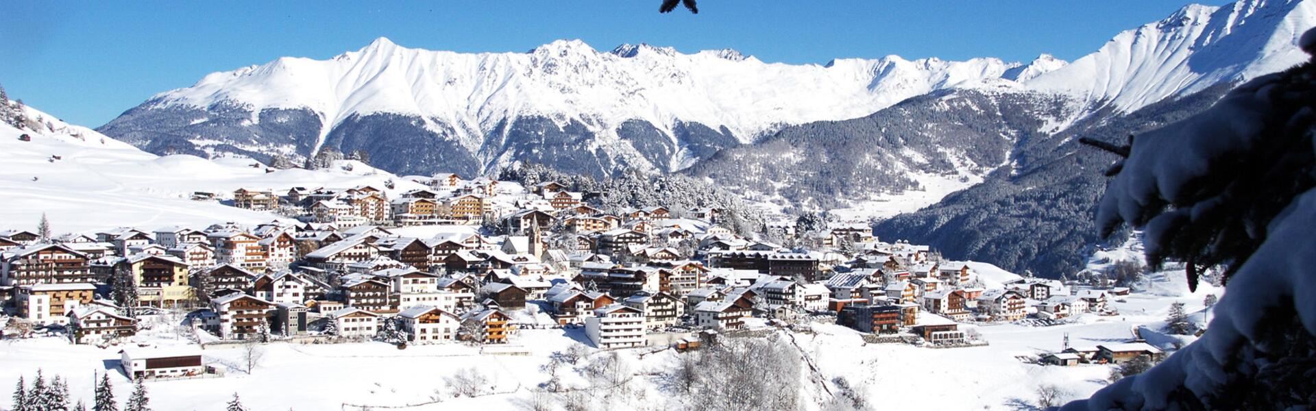 serfaus in winter snow