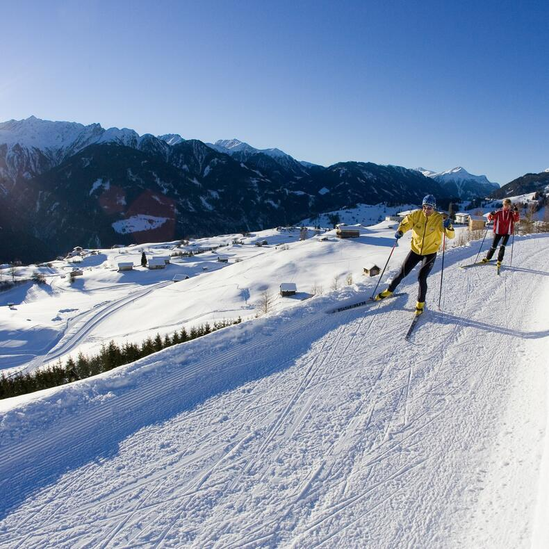 cross-country skiing serfaus holiday