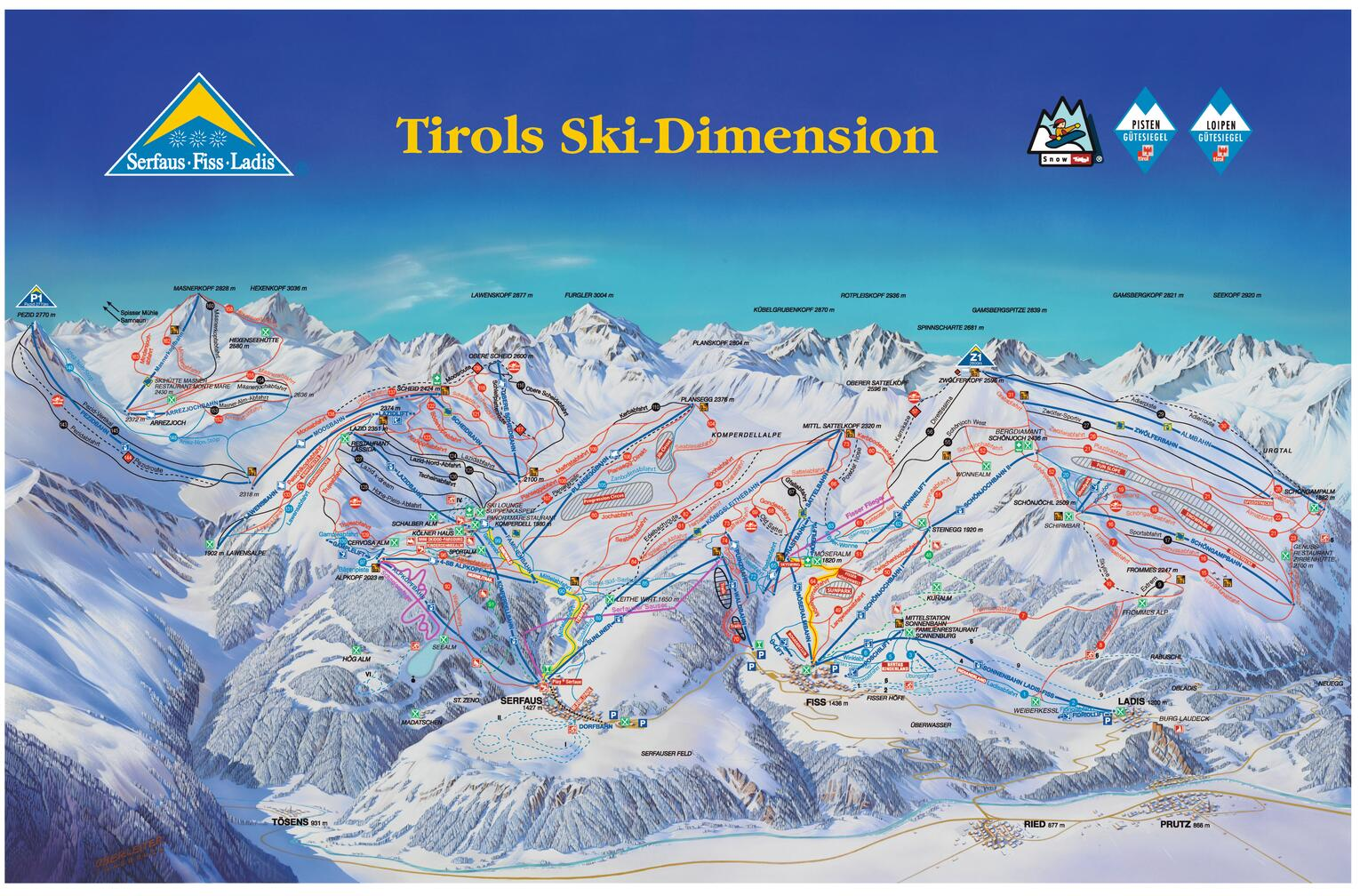 ski map ski area serfaus